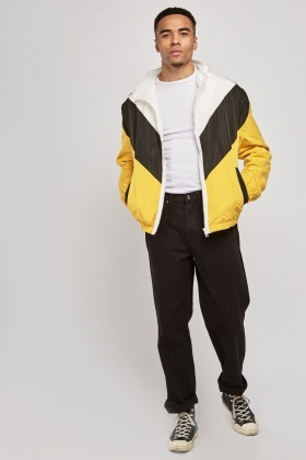 Colour Block Light Weight Hooded Jacket