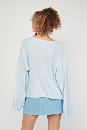 Flare Sleeve Knit Jumper