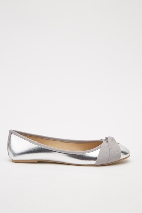 Metallic Ballerina Pumps
