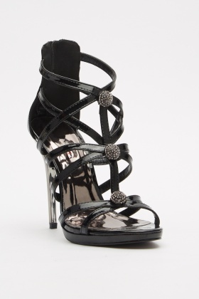 PVC Strappy Heeled Sandals