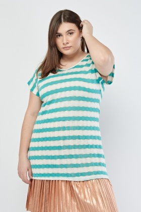 Spiral Striped Knitted Top