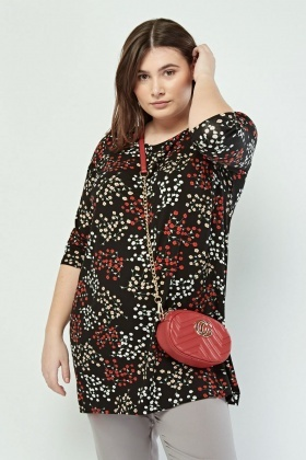 Calico Printed Casual Top