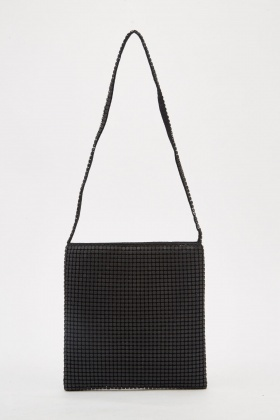 Metal Mesh Overlay Mini Bag