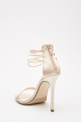 Bangle Strap Sateen Heel Sandals