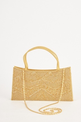 Beaded Twin Handled Bag