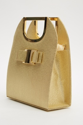 Bow Front Shimmery Bag