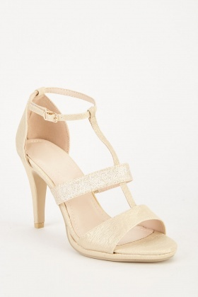 Glitter Contrast High heel Sandals