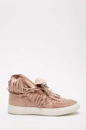 High Top Fringed Plimsolls