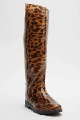 Leopard Print Wellies