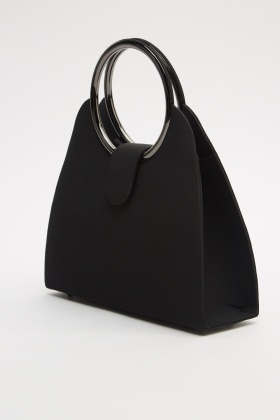 Metallic Twin Handle Hobo Bag