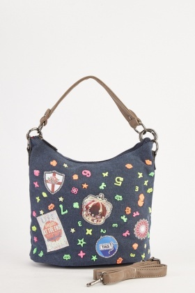 Novelty Encrusted Denim Handbag