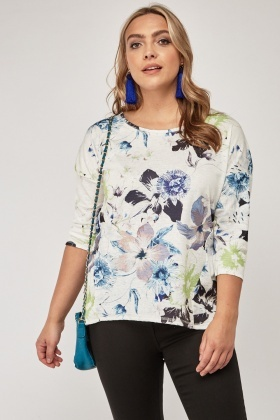 Mixed Flower Printed Top