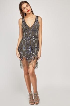 f557e5ff18 Heavily Embellished Mini Dress - Just £5