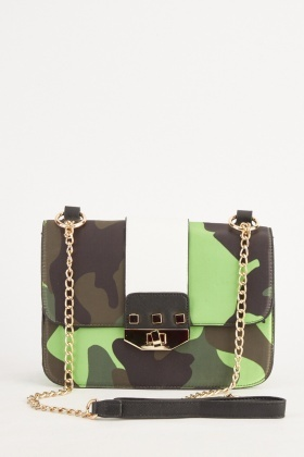 Camouflage Cross Body Bag