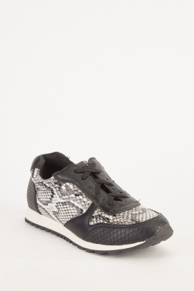 Low Top Animal Printed Trainers