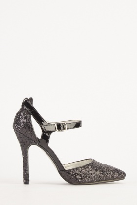 Lurex Contrasted High Heels