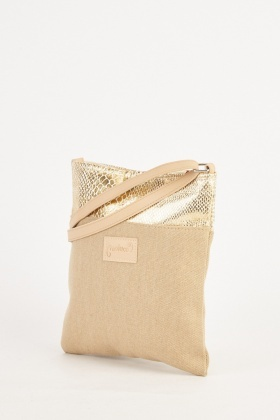 Metallic Panel Cross Body Bag
