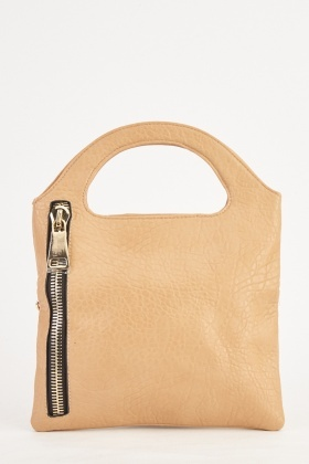 Zipper Trim Handbag And Clutch