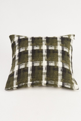 Checkered Patterned Cushion Cover