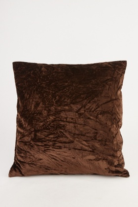 Coffee Velveteen Cushion Cover