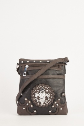 Diamante Encrusted Cross Body Bag