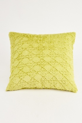 Lime Diamond Pattern Cushion Cover