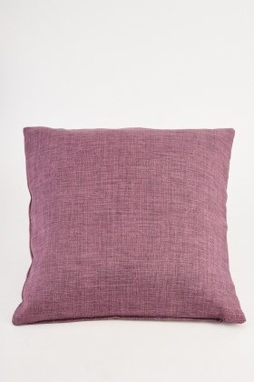 Mauve Jute Cushion Cover