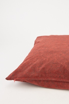 Patterned Suedette Cushion Cover
