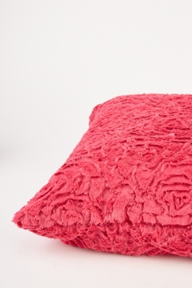 Pink Floral Patterned Cushion Cover