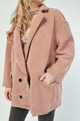thoughts on outlet for sale classic shoes Oversized Teddy Fleece Coat