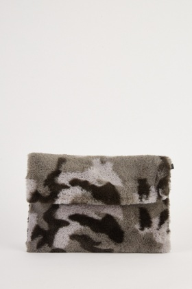 Camo Textured Clutch Bag