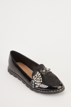 Encrusted Front Loafers