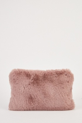 Faux Fur Clutch Bag