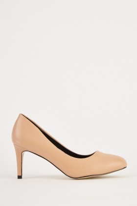 Faux Leather Pointed Toe Pumps