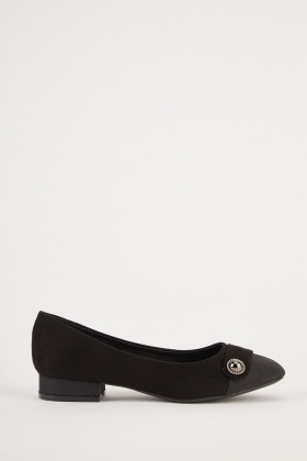 Front Detail Ballet Pumps