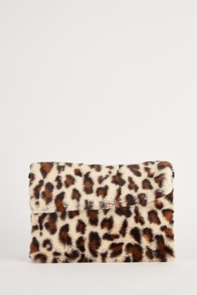 Leopard Textured Cross Body Bag