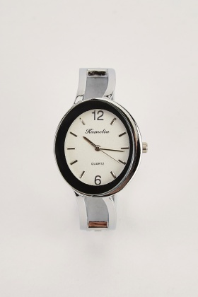 Round Face Bangle Style Watch