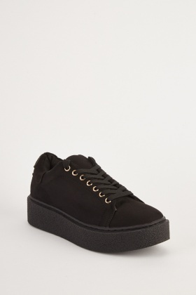 Suedette Lace Up Trainers