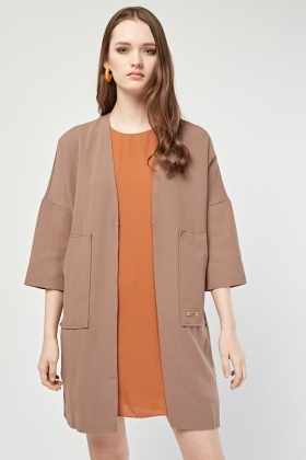Pocket Front Duster Coat