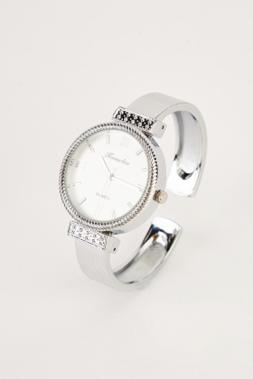 Round Face Bangle Watch