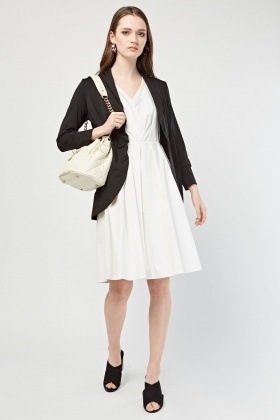 Ruched Front Casual Jacket
