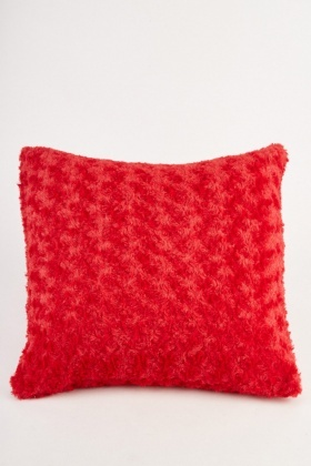 Teddy Bear Dark Red Cushion Cover