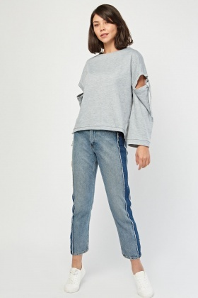 D-Ring Sleeve Basic Sweatshirt
