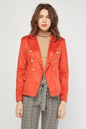 Textured Suedette Jacket
