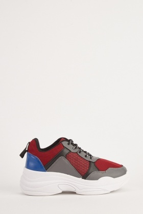 Colour Block Textured Chunky Trainers