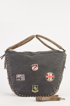 Patch Studded Trim Large Bag