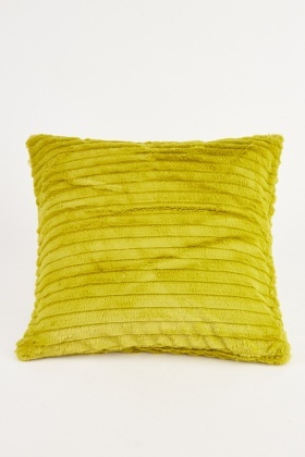 Striped Fluffy Textured Cushion Cover