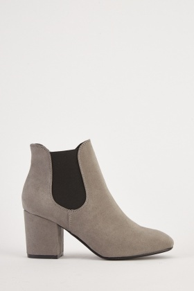 Suedette Elasticated Ankle Boots