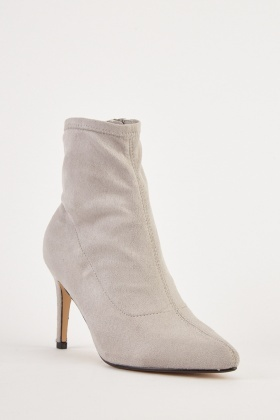 Zip Side Suedette Boots