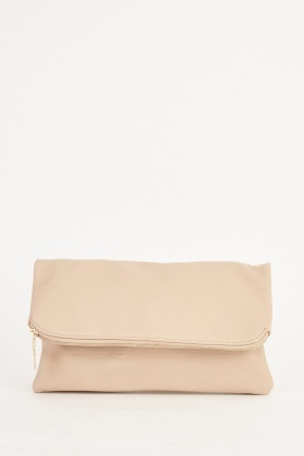 Zipper Trim Clutch Bag